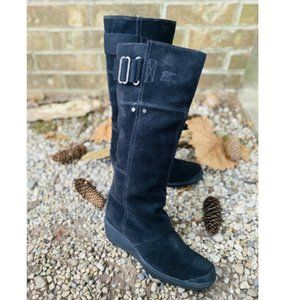 Sorel Women's Toronto Tall Black Suede Boots 6.5